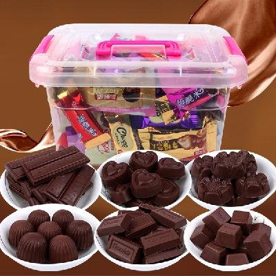 醇黑巧克力礼盒 糖果大礼包 婚庆喜糖糖果 巧克力 零食1000g-200g