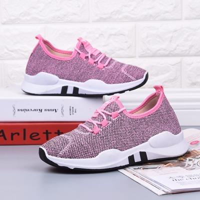 2017秋季新款渐变色轻便柔软舒适运动鞋系带低帮平跟手缝线