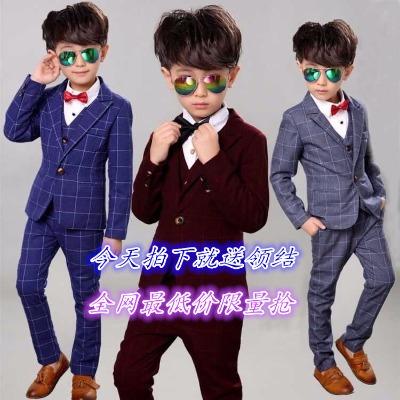 2018春秋款男童套装马甲外套礼服套装主持花童英伦西服套装中小童