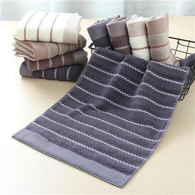 毛巾纯棉柔软全棉洗脸成人家用加厚超强吸水长方形洁面巾4条装加