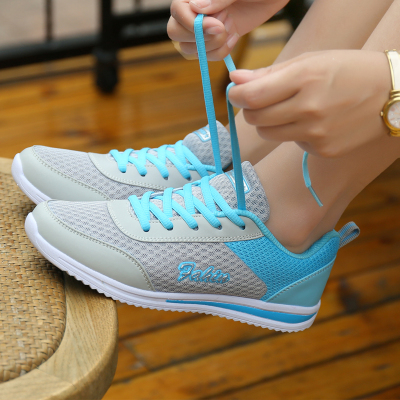 【金亿莎】春夏网面透气女鞋运动休闲鞋轻便平底跑步鞋学生女单鞋