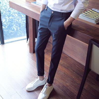 【不粘毛灰不起球】男士修身小脚裤休闲裤九分裤韩版潮流小西装裤