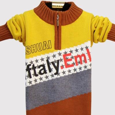 新款儿童装男孩毛衣男童针织衫小孩线衣宝宝衣服春秋冬套头拉链衫