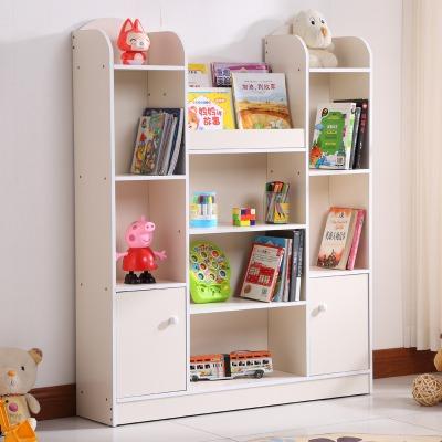 儿童书柜简易书架置物架学生小柜子储物柜简约现代组合柜带柜门